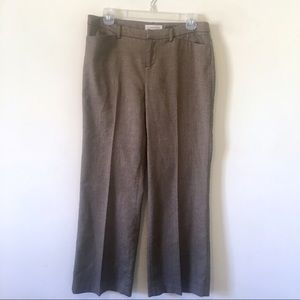 COLDWATER CREEK Brown Tweed Shimmer Trousers Pant